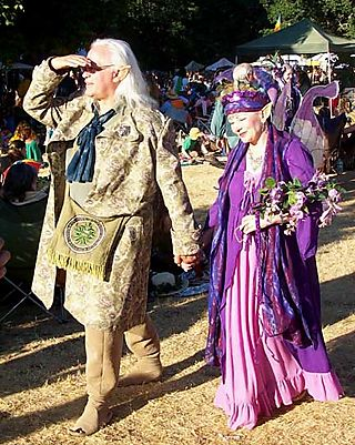 Adorable old faerie couple