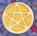 Yellow and white pentacle