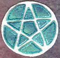 Green white pentacle
