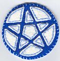 Blue and white pentacle